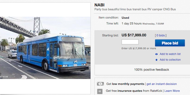Update] One Of Leap's Private Buses Now For Sale On eBay And