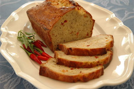Chili Pepper Banana  Bread