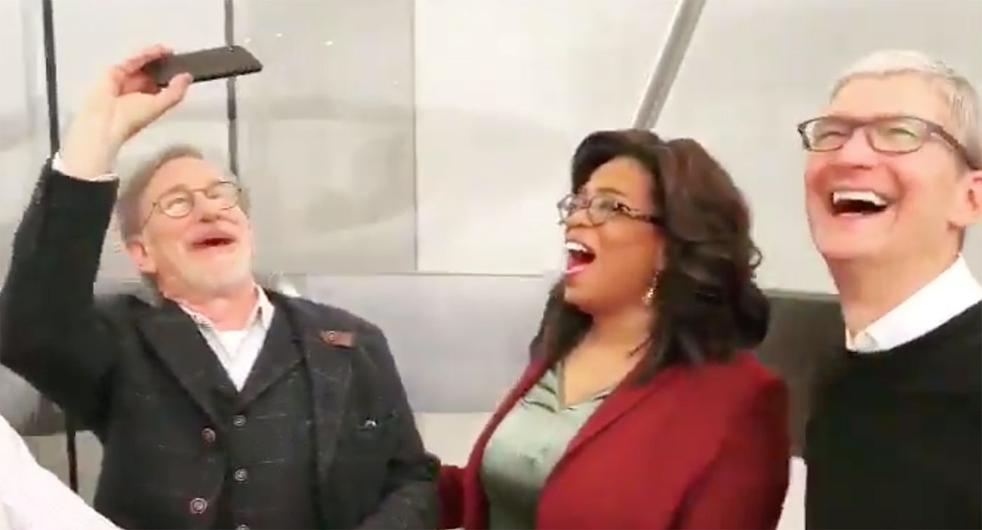 Watch Oprah And Steven Spielberg Dork Out Over Apple's Spiral Elevator