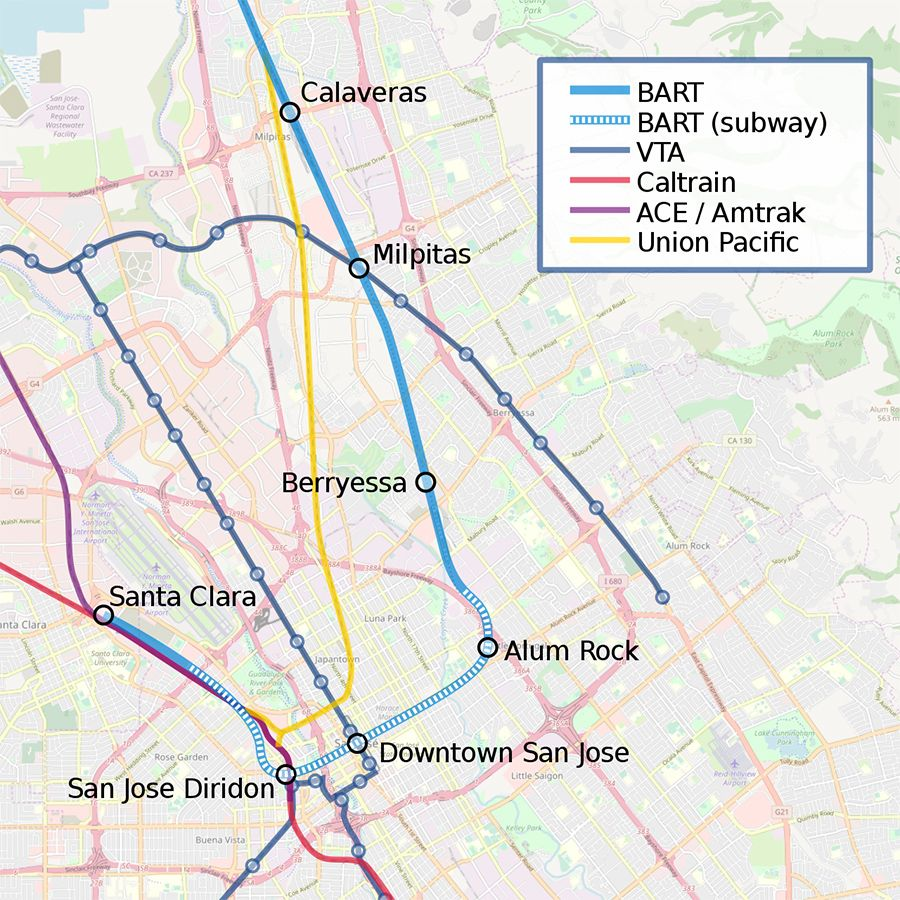 BART\'s Milpitas And Berryessa Stations On Track For December Openings