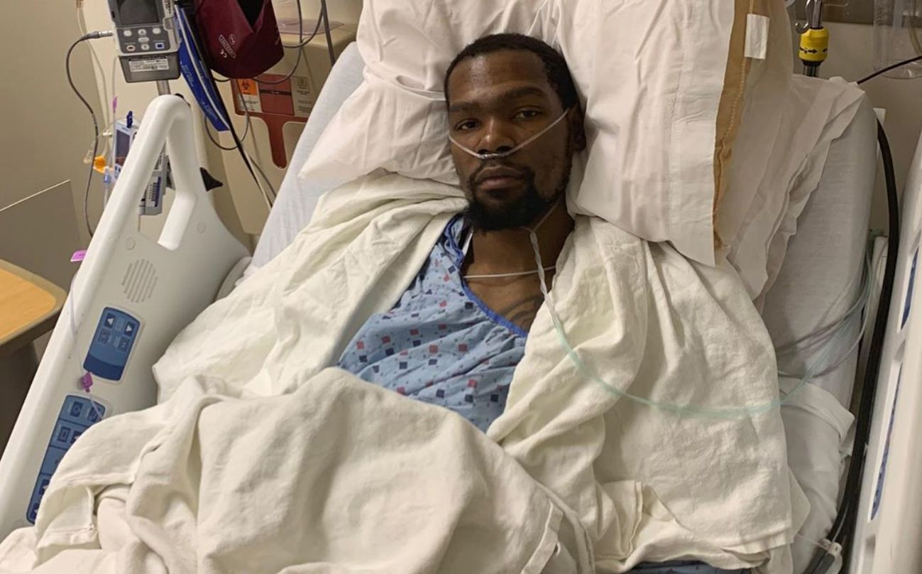 Kevin Durant Posts Photo To Instagram After Achilles Surgery, Says 'I Wanted To Be Out There' – SFist