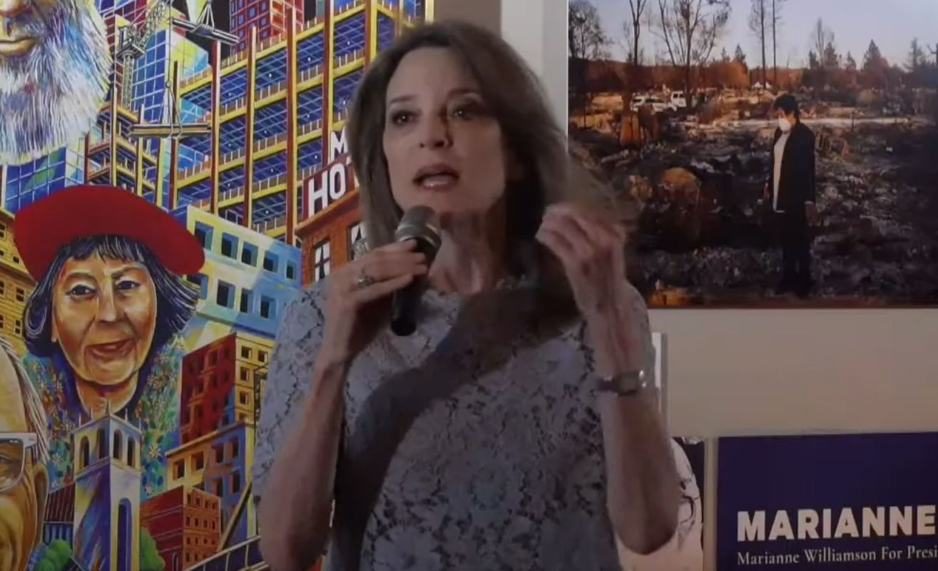 Marianne Williamson Preached About Moral Governance At Manny's In the Mission