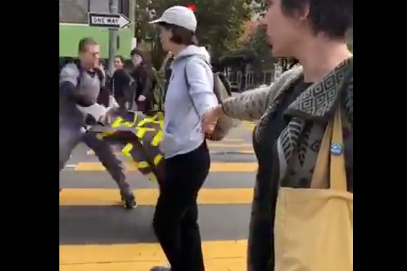 Angry Man Yells at Climate Action Protesters For Blocking Traffic in SF; Internet Decides They Are Antifa