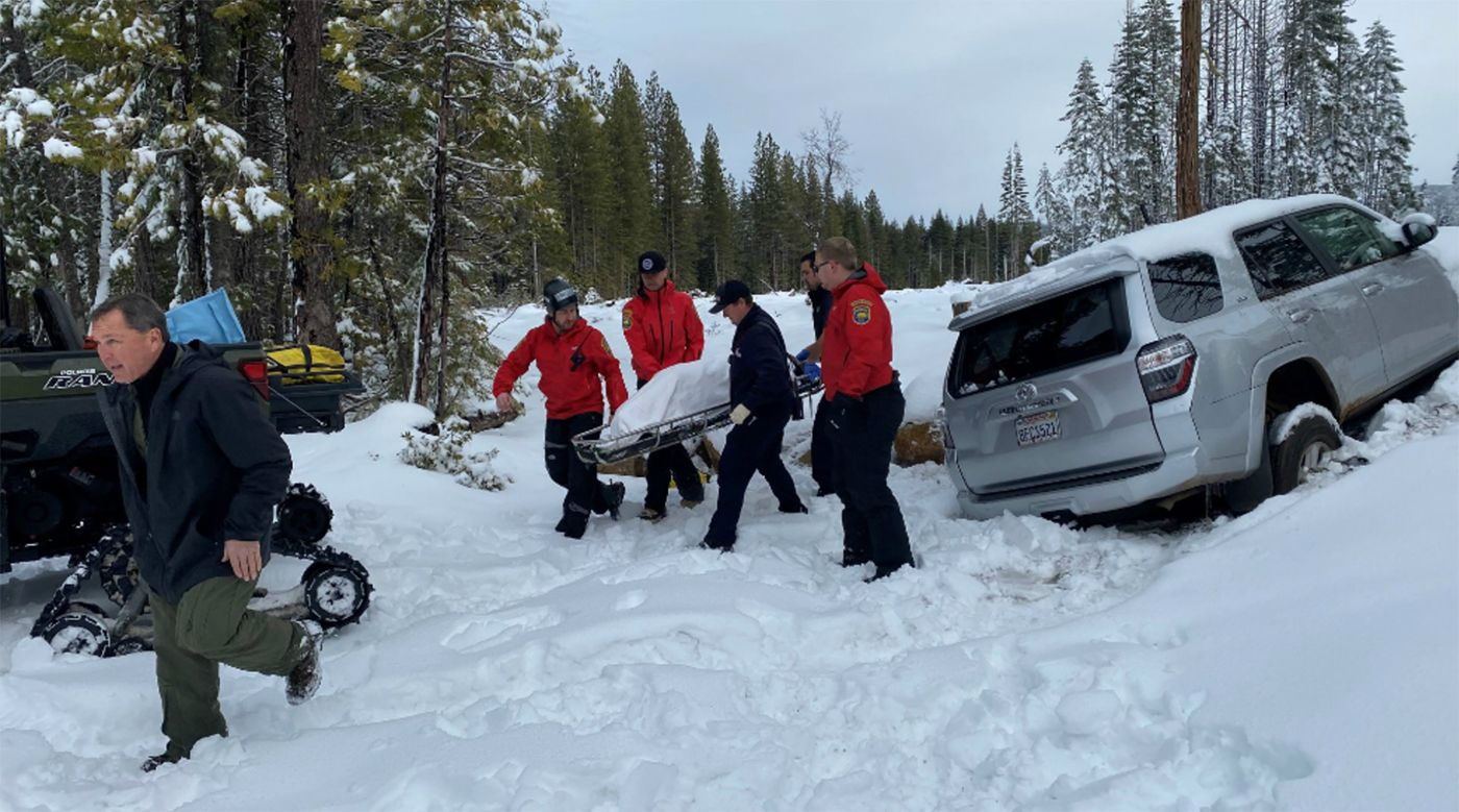 68-Year-Old NorCal Woman Survived In Snow-Covered Car For Six Days Under Floor Mats