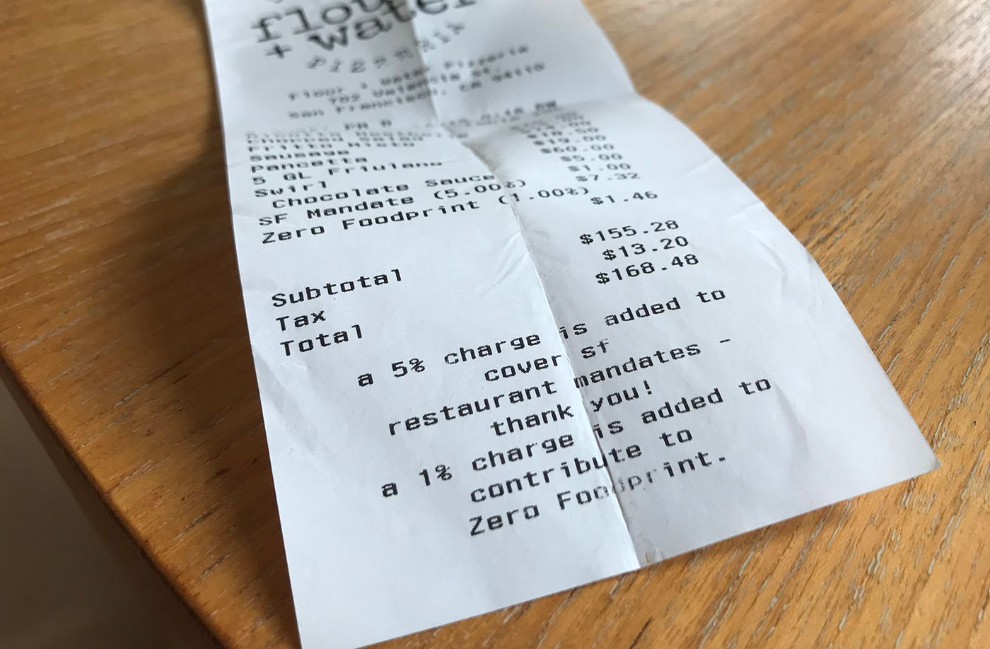 Select SF Restaurants Tack On 'Optional' Surcharge to Fight Climate Change