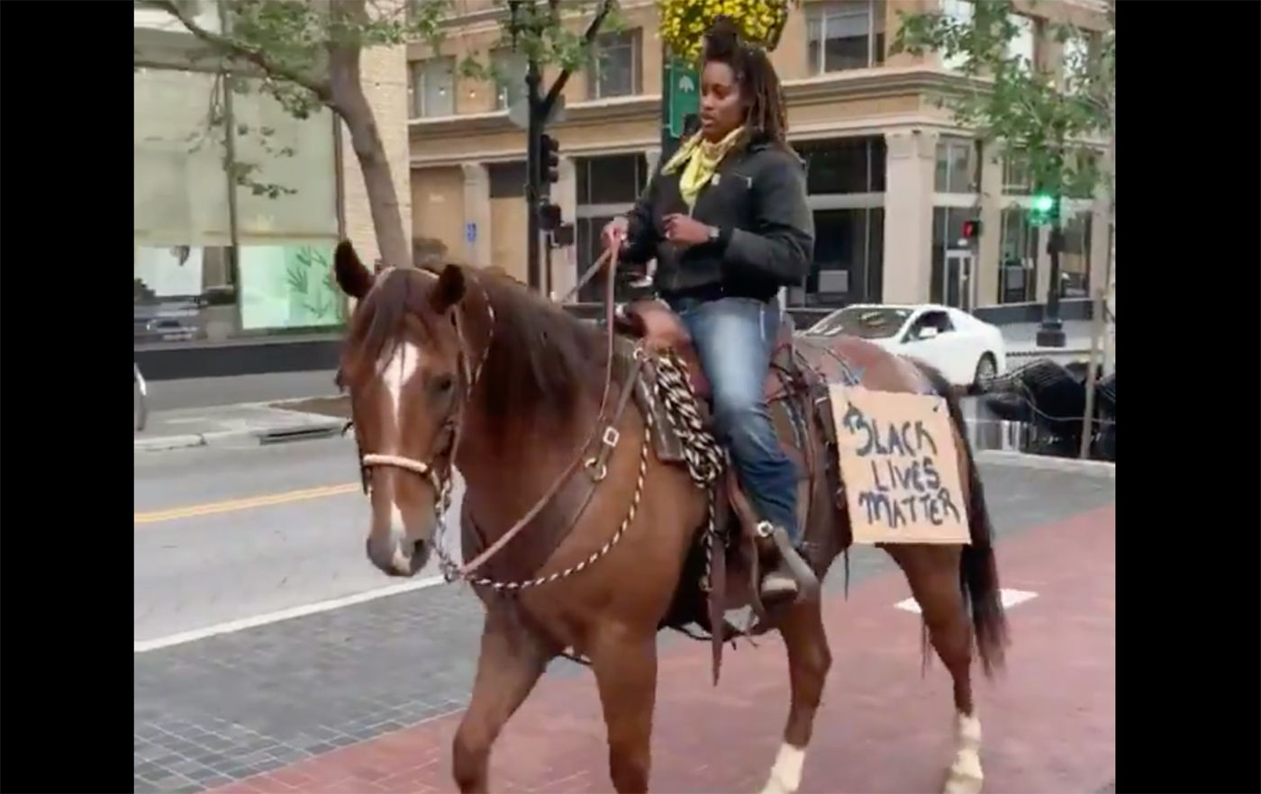 Black Woman on Horse At Oakland Protest Says She Knew The Image Would Be Powerful