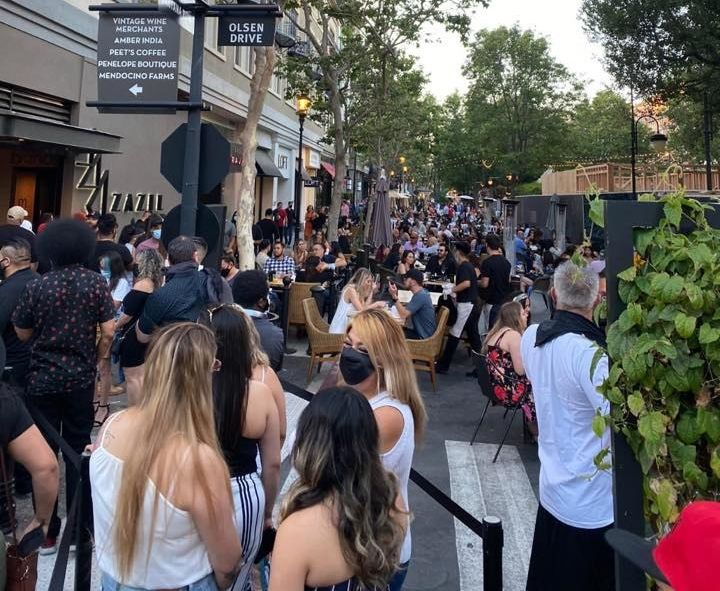 Saturday Links: San Jose's Santana Row Crowds With People Before 4th of July Weekend