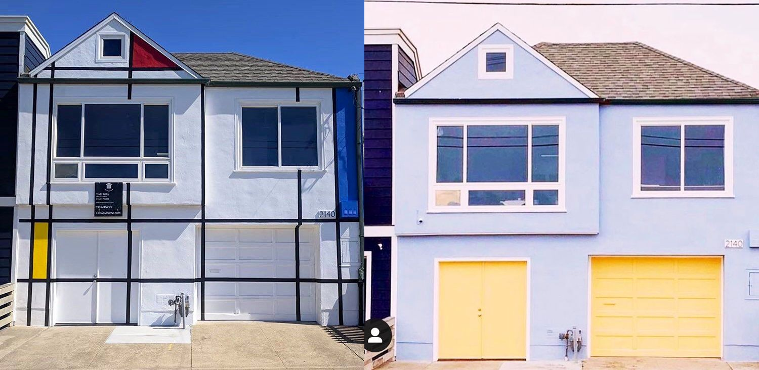 Mondrian House at Ocean Beach Repainted By People With No Style