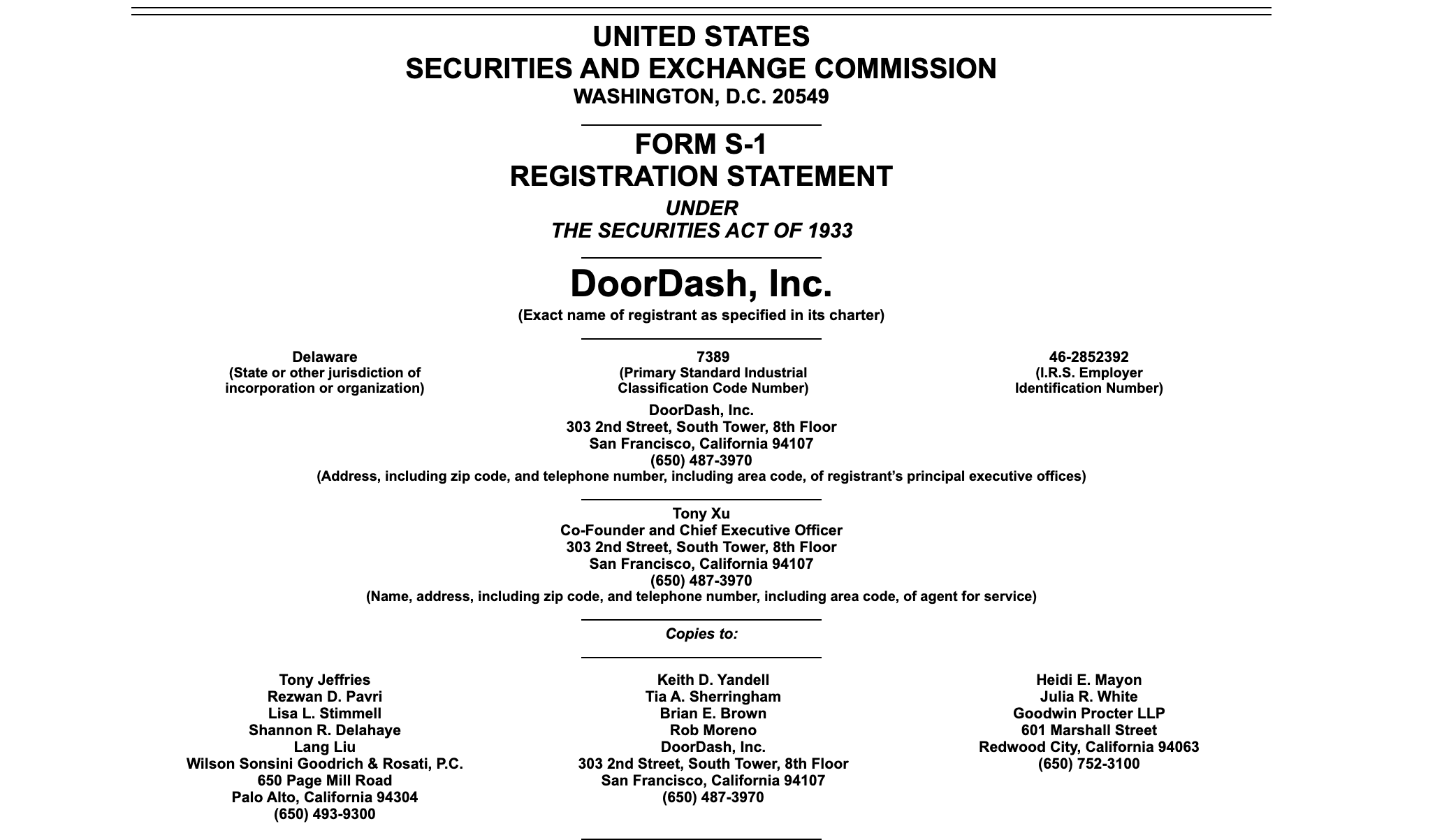 Sf Based Doordash Planning Ipo As Revenue Doubles To 1 9b This Year