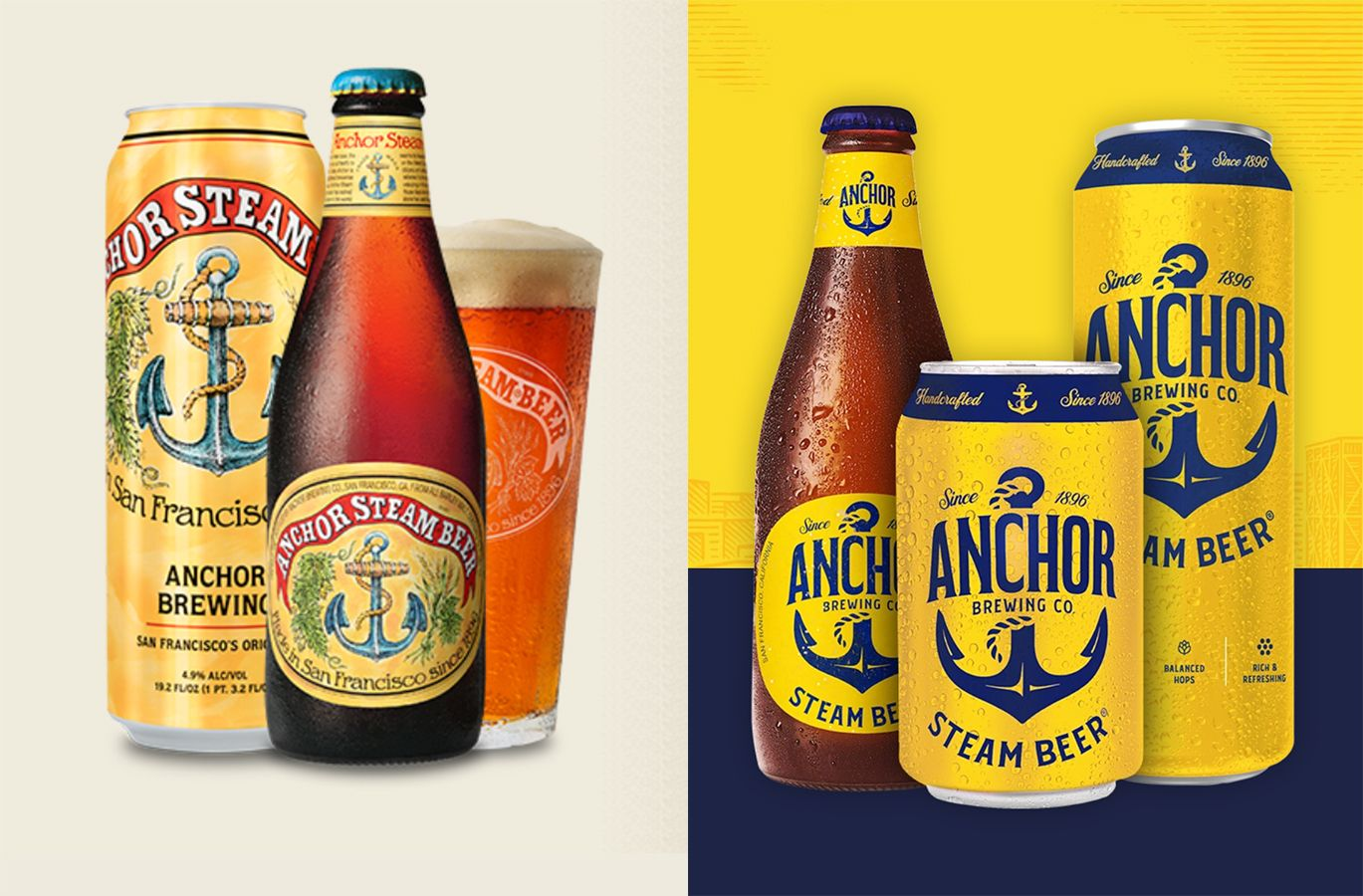Anchor Brewing Dragged On Twitter After Nixing Iconic Label In Favor of Blue and Yellow Design