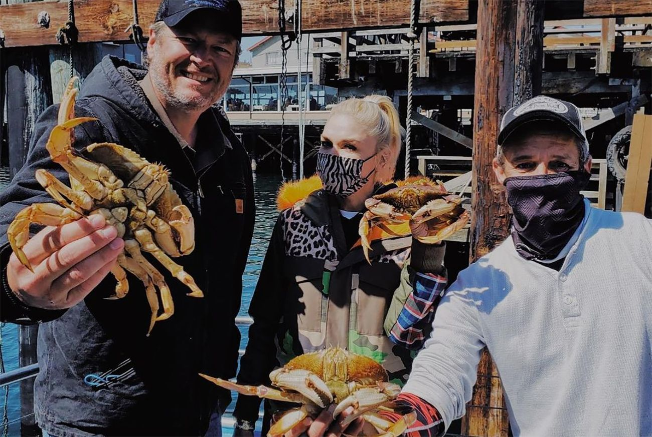 Gwen Stefani and Blake Shelton Came to NorCal to Go Crabbing Last Weekend