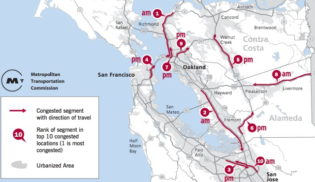 As Bay Area Traffic Congestion Hits All-Time High, Here's A Ranking