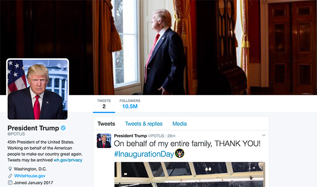 Is Twitter Forcing Us All To See Tweets From Trump's @POTUS Account?