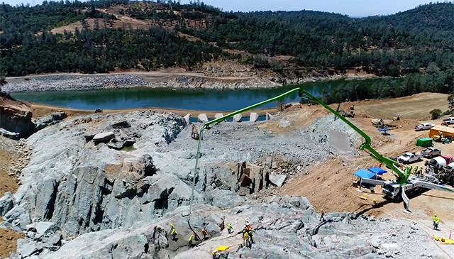 Video: Drone Footage Shows Massive Oroville Spillway Repair Project