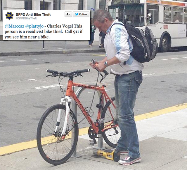 SFPD Now Shaming Bike Thieves On Twitter