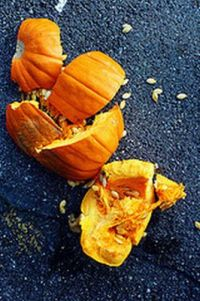 smashed pumpkin
