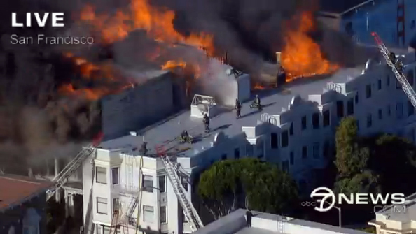 Breaking: Massive Fire Erupts In San Francisco's Western Addition ...