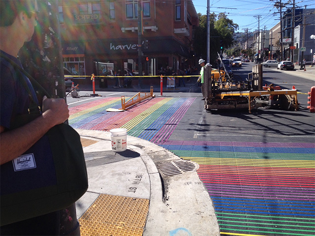 http://sfist.com/2014/09/30/castro_crosswalks_turning_rainbow_t.php