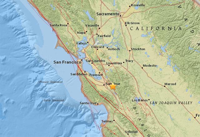 Magnitude 4.4 quake shakes San Jose area