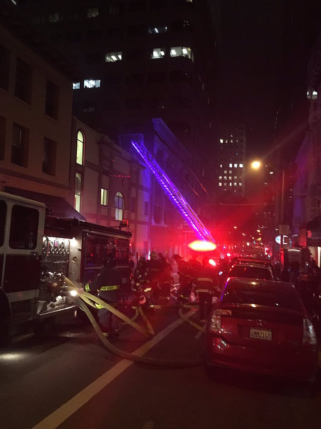 fidi basement fire displaces residents closes alfred 39 s